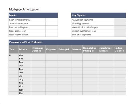 loan amortization template amortization schedule templates 10 free word excel pdf format free premium