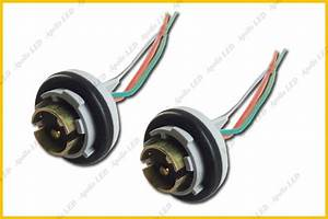 2pcs 1157 2057 2357 Turn Signal Light Bulb Socket Harness