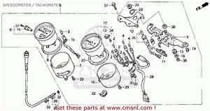 Honda Cb750 Nighthawk 1992  N  Usa Speedometer