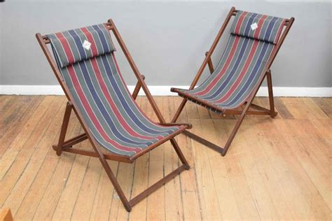 A Pair Of Australian Made Deck Chairs By Souwester