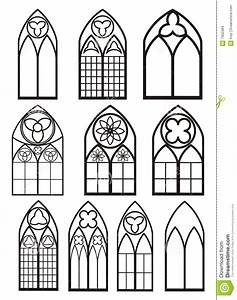 Gotische Fenster Konstruktion : windows in gothic style stock vector illustration of ~ Lizthompson.info Haus und Dekorationen
