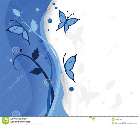 blue butterflies background royalty  stock photography