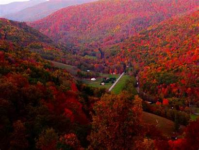 Mountain Virginia Autumn Scene Village West Wallpapers