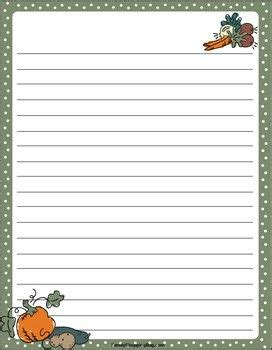 fall harvest thanksgiving stationery  printable