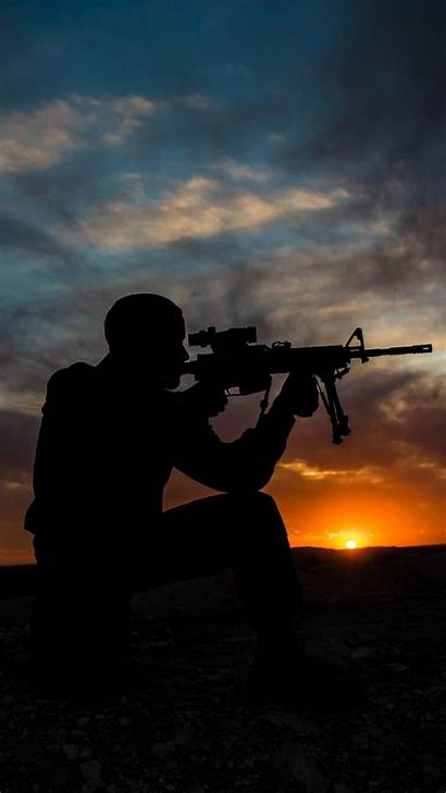 Soldier Sniper Iphone Soldiers Wallpapers Military Sunset
