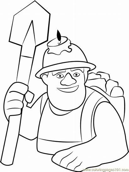 Clash Coloring Clans Miner Royale Clan Archer