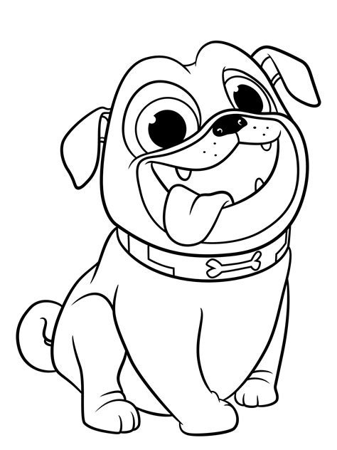 pug coloring pages    print