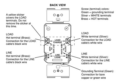 Wiring Gfci Outlet How Wire Line Load Schematics