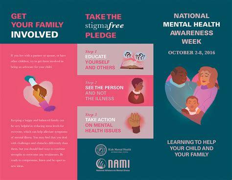 Free Mental Health Brochure Templates by Valerie Thakkar National Mental Health Awareness Week