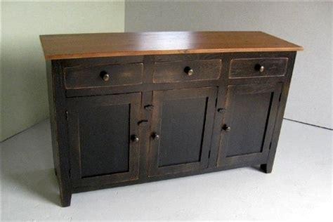 Rustic Painted Server Cabinet-ecustomfinishes