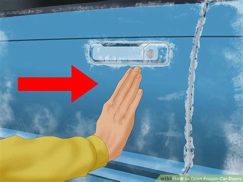 how to open a car door 3 ways to open frozen car doors wikihow