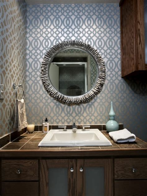 bathroom wallpaper ideas bathroom wallpaper beautiful homes design