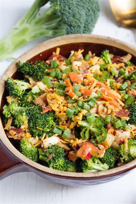 salad broccoli bacon cheddar dressing calories