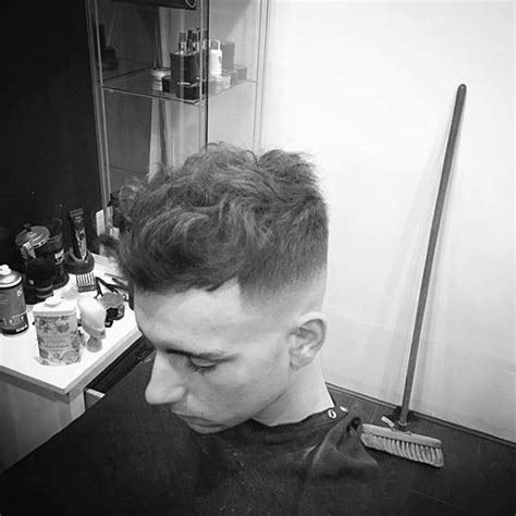 curly fade haircuts  men manly semi fro hairstyles