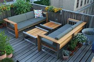 Loungemöbel Holz Outdoor : modern outdoor furniture creating perfect small outdoor seating areas ~ Watch28wear.com Haus und Dekorationen