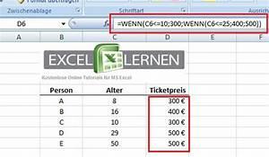 Excel Formel Alter Berechnen : excel wenn dann funktion excel lernen ~ Themetempest.com Abrechnung