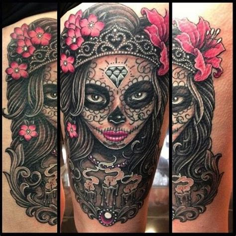 Other Designs For Sugar Skull Tattoos May Also Include Art