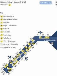 Chicago Midway Airport  Mdw  Terminal B Map