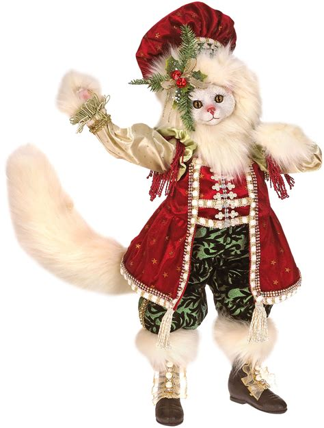 mark roberts collectable white christmas cat