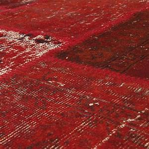 tapis angelo rouge en laine up cycle 200x300 With tapis laine rouge