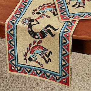 Three Kokopellis Southwest Table Linens