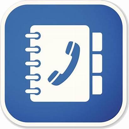 Directory Telephone Clip Phone Vector Illustrations Sticker