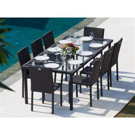 stunning salon de jardin tresser cancun ensemble table de jardin 220 cm et 8 chaises résine