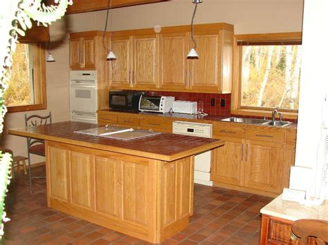 oak kitchen island oak kitchen cabinets with white island mpfmpf