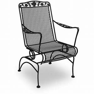 Meadowcraft Dogwood Wrought Iron Patio Coil Spring Chair