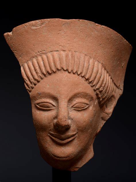 alexander ancient art  archaic greek protome fragment