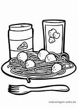 Essen Teller Trinken Ausmalbild Ausmalen Grafikdatei Eten sketch template