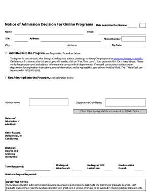 noa form departmental forms noa graduate transfer forms fill online