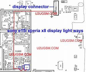 Sony Xperia X8 Lcd Display Light Ic Solution Jumper