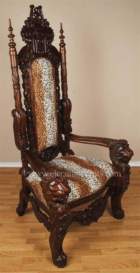 king throne chair leopard