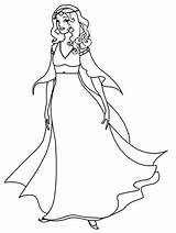 Medieval Princess Drawing Coloring Queen Pages Getdrawings sketch template