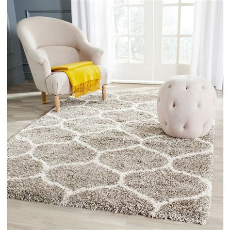 safavieh home safavieh hudson shag gray ivory 8 ft x 10 ft area rug
