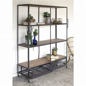 Industrial, Mobile, Shelving, Unit, With, Wire, Drawers