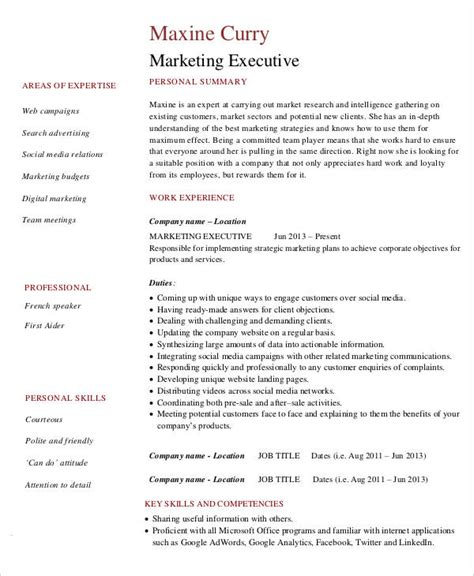 Marketing Resume Download  42+ Free Word, Pdf Documents