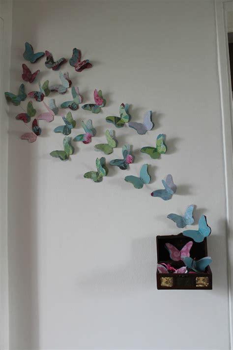 mur papillons en 3d creer s amuser