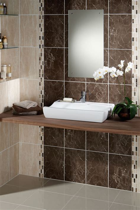 Small Half Bathroom Tile Ideas Come With Gray Ceramic Wall