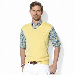 Polo V : lyst ralph lauren polo v neck pima cotton sweater vest in yellow for men ~ Gottalentnigeria.com Avis de Voitures