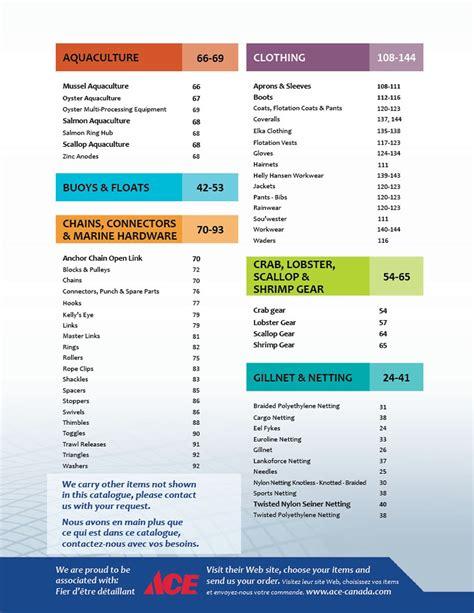 table catalogue catalog entreprises shippagan ltd