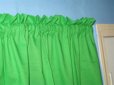 Blue Green Valance by Handmade Solid Yellow Black Green Blue Window Curtain