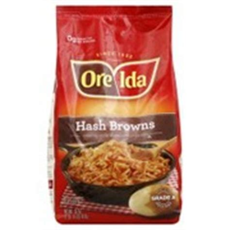 Oreida Hash Browns, Country Style Calories, Nutrition