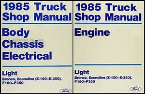 1985 Ford Econoline Van And Club Wagon Foldout Wiring Diagram