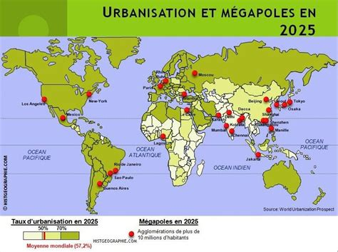 Des Cartes Pour Comprendre Le Monde Fiche by Carte Urbanisation Monde My