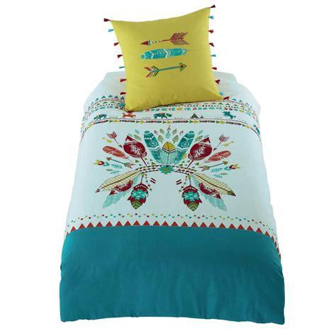 ensemble chambre bebe parure de lit enfant en coton multicolore 140 x 200 cm