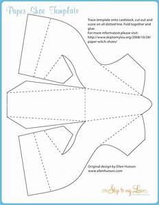 witchshoe With how to make paper shoes templates