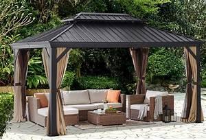 10 U0026 39  X 12 U0026 39  Ft Outdoor Patio Gazebo Hardtop Panel Roof