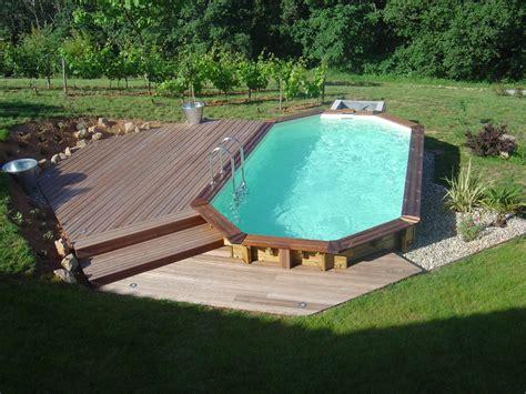 piscine bois semi enterr 233 e 6x3